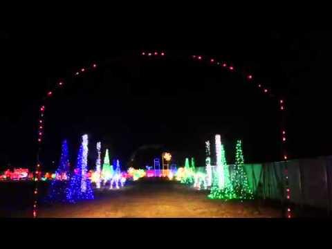 Divots Celebration of Lights, Drive thru Christmas Light Park, Norfolk NE