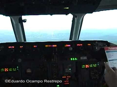 MD-83 cockpit takeoff from Bogota