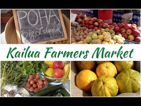 Vegging Out :: Kailua Town Farmers Market- Grocery Haul