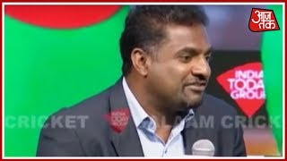 Muralitharan Recalls How Dangerously Fast Waqar Younis & Wasim Akram Bowled | Salaam Cricket 2018 - AAJTAKTV
