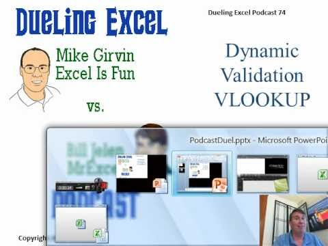 Mr Excel & excelisfun Trick 74: Dynamic Range For VLOOKUP & Data Validation List - Table Feature