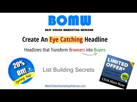 Creating Eye Catching Headline and Graphics that turn Browsers into Sales!