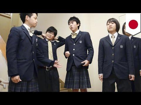 Gender swap: Japanese high school girls wear pants, boys wear skirts