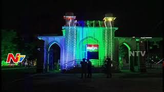 Superb Electrical Lights Arrangements for Independence Day Celebrations in Hyderabad || NTV - NTVTELUGUHD