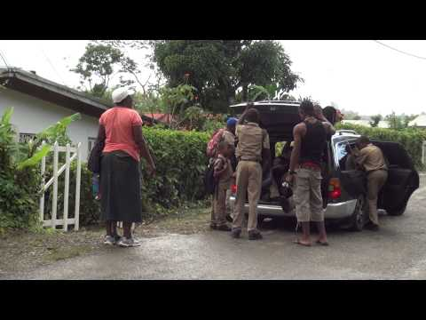 JAMAICAN  KIDS AFTER SCHOOL RIDE IN TAXI
