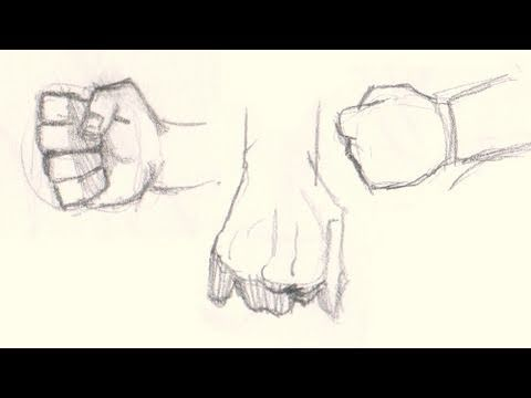 How to draw fists hands 5 different ways