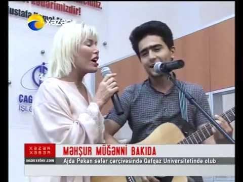 Ajda Pekkan Qafqaz Universitetində_Xəzər TV