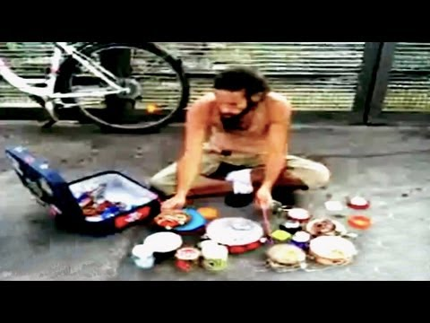 Awesome Street Drummer&#39;s Homemade Percussion Kit || YDW