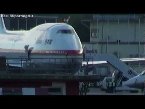 Japanese &quot;Air Force One&quot; Boeing 747 Takeoff at Berlin Tegel Airport HD (1080p)