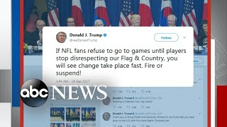 Trump takes on NBA and NFL stars - ABCNEWS