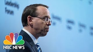 Deputy AG Rod Rosenstein Jokes About Being Frequently Targeted By President Donald Trump | NBC News - NBCNEWS
