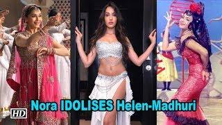 Nora Fatehi IDOLISES Helen & Madhuri's Dance - IANSLIVE