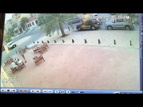 شاهد: اطلاق نار و مطاردة ثم صدم( السعودية الجبيل ) - صوت وصوره لايف