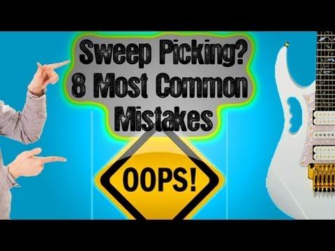 "8 Beginner Common Sweep Picking (Economy Picking) Mistakes ""Shred Guitar Lesson"""
