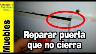 Cómo reparar puertas que no cierran con un desatornillador