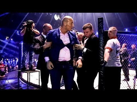 Artur Szpilka wchodzi na ring i uderza Tomasza Oświęcińskiego