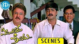 Evandoi Srivaru Movie Scenes || Srikanth, Nikita Thukral, Sunil Climax Scene - IDREAMMOVIES