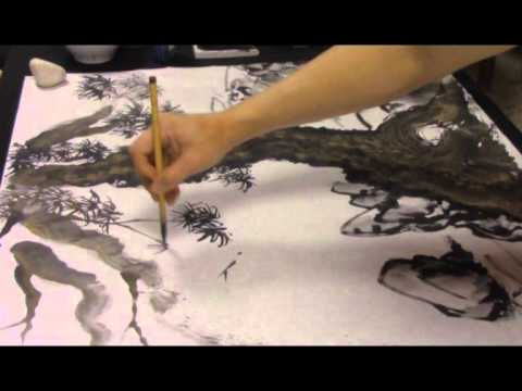 Ogawa Ryu - Sumi-e Landscape by Juliana Galende and Rebeca Roca