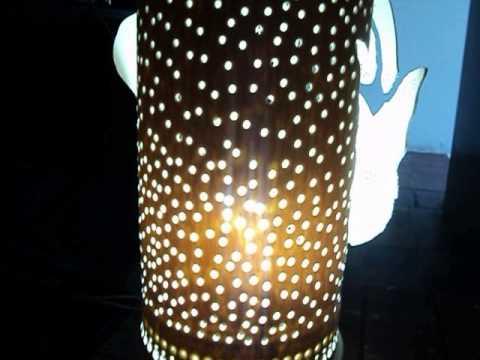 luminaria em pvc jp arte luz