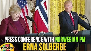 US President Donald Trump Joint Press Conference With Norwegian Prime Minister Erna Solberg - MANGONEWS