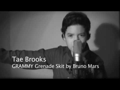 Bruno Mars - Grenade GRAMMYs 2011 Performance Skit - 13 Years Old Tae Brooks Cover