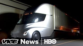 The Big Reveal Of Tesla's Electric Semi (HBO) - VICENEWS