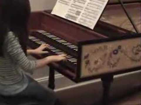 Bach Menuet from French Suite #3 on Harpsichord