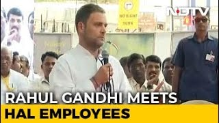 Want To Stand With You, Rahul Gandhi Tells HAL Workers Over Rafale - NDTV