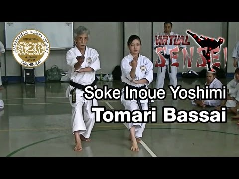 Soke Inoue Yoshimi teaching kata Tomari Bassai - Summer Camp 2013