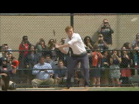 Prince Harry U.S. Tour: British Royal Hits Home Run with NY Children