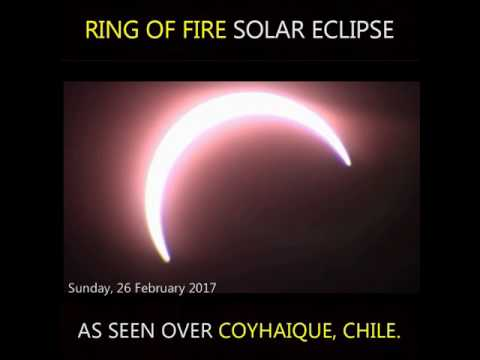 Ring of Fire Solar Eclipse Over as seen over Coyhaique, Chile