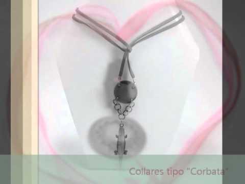 Collares en cinta de agua y tipo corbata - Bisuteria precolombina