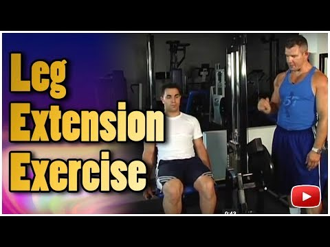 Weight Training - Leg Extension Exercise featuring Dr.Nick Evans