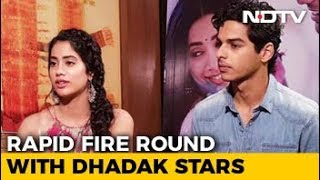 Rapid Fire Round With Janhvi Kapoor & Ishaan Khatter - NDTV