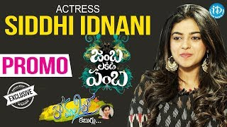 Actress Siddhi Idnani Exclusive Interview - Promo | #JambaLakidiPamba | Anchor Komali Tho Kaburulu - IDREAMMOVIES