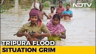 Over 3,600 People Rescued From Flood-Hit Tripura, Assam - NDTV