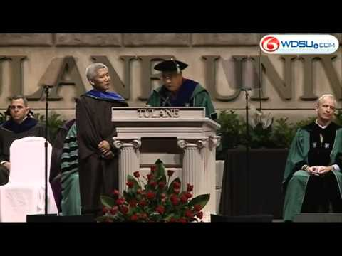 Dalai Lama addresses Tulane graduates Saturday
