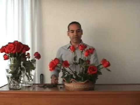 arreglo de rosas - como hacer un bonito arreglo floral