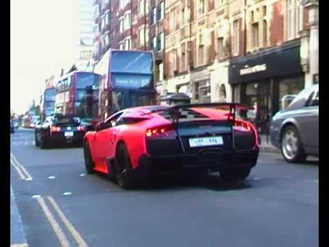 Lamborghini Murcielago LP670-4 SV Vs Bugatti Veyron Sang Noir + Enzo