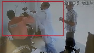 Caught on cam: RLD leader, his supporters thrash petrol pump salesman - TIMESOFINDIACHANNEL