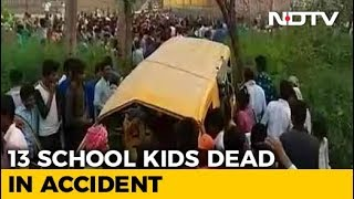 13 Children Dead In UP Bus Accident; Driver's Fault, Says Yogi Adityanath - NDTV