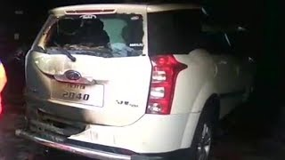 On cam: Unidentified miscreants torch BJP leader's vehicle - TIMESOFINDIACHANNEL