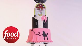 Vinyl Jukebox Cake That Plays Music | Food Network - FOODNETWORKTV