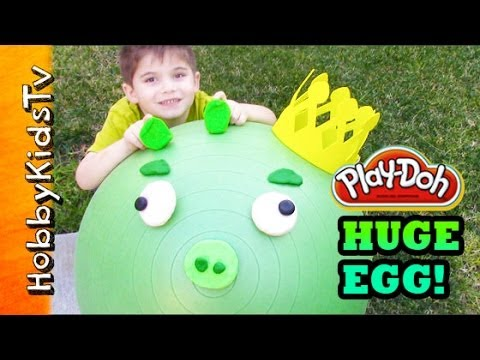 PLAY-DOH Biggest Surprise Toy Egg Ever! King Pig - Angry Birds, Star Wars, Toy Story