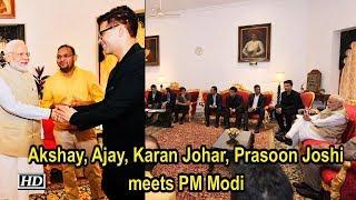 Akshay, Ajay, Karan Johar, Prasoon Joshi meets PM Narendra Modi - IANSINDIA