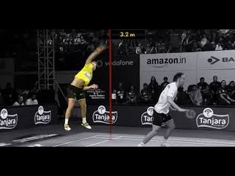 HOW HIGH CAN BADMINTON PLAYERS JUMP ?