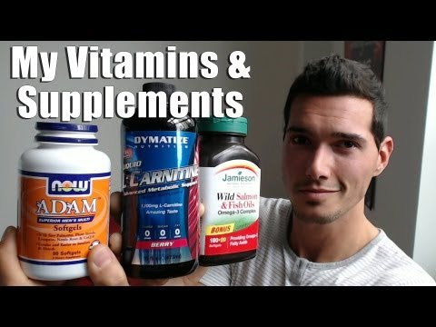 Vitamins & Supplements Stack - L-Carnitine, Creatine, Wild Salmon and...