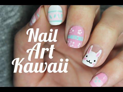 Idea para decorar tus uñas de Pascua | Conejo kawaii Nail Art