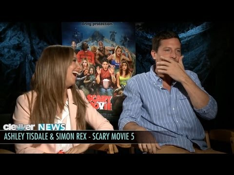 Ashley Tisdale and Simon Rex - Scary Movie 5 Interviews!