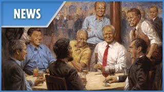 Trump has 'fantasy' painting of himself surrounded by past presidents - THESUNNEWSPAPER